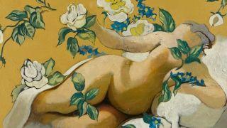 Expo Henri Cueco - Musée Abbaye Ste croix - Danaé_aux_roses_Coll_particuliere